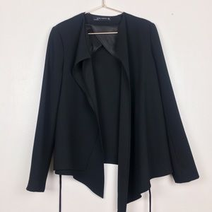 Zara woman draped layered blazer